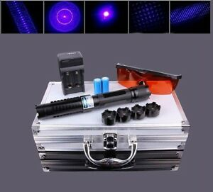 High Power Blue Laser Pointer 450nm Beam Visible High powe Burning Lazer Box