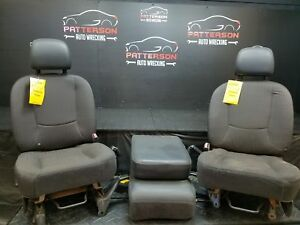2004 Dodge Ram Pickup 1500 Front Cloth Left right center Seats Gray Dv