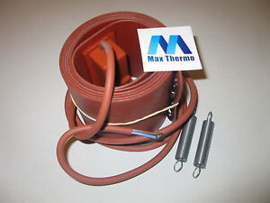 Barrel Flexible Silicone Heater 230v 1500w Controlled Thermost For Bio Diesel