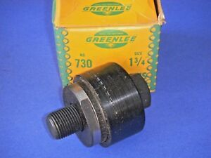 Vintage Greenlee 730 Round Radio Chassis Knockout Punch 1 3 4 3 Pc Nos