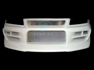 For Nissan Skyline R34 Gtr Jun style Frp Front Bumper Lip Spoiler Bodykit