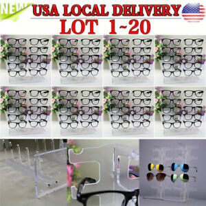 Acrylic Clear Display Retail Show Stand Holder Rack For Glasses Sunglasses Lot