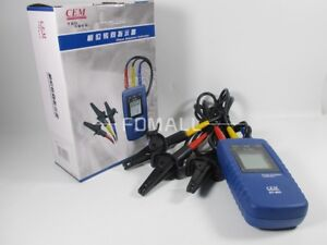 1 Pcs New Cem Dt 901 Three 3 Phase Rotation Indicator Tester