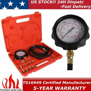 Engine Oil Pressure Test Kit Tester Auto Car Garage Tool Low Oil Warning Devices
