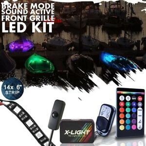 Led Boat Interior Marine Deck Lights Full Color Changing Neon Accent Strips Kit