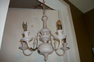 Early 1900 S Antique Brass Colonial Chandelier Vtg Williamsburgs Light Fixture