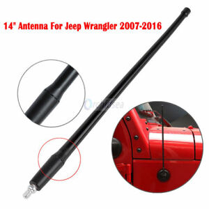 14 Radio Fm Am Signal Rubber Cb Antenna For Jeep Wrangler Jk 2007 2016 Black