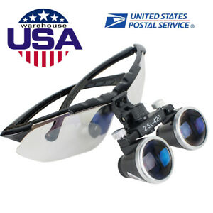 Dental Surgical Medical Binocular Loupes 2 5x420mm Optical Glass Loupe Magnifier