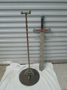 Mid Century Modern Brutalist Medevil Custom Crafted Iron Sword
