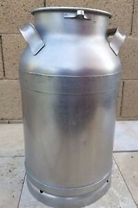 Buhl Ohio Stainless Steel Milk Can Jug 5 Gal 20 Qt W drain Spout Ships Free