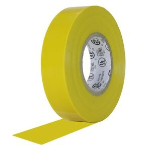 20 Rolls Yellow Vinyl Electrical Tape 3 4 X 60 Flame Retardant Ul Listed Rohs