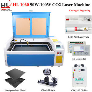 Auto Focus 100w 1060 Co2 Laser Engraving Machine Ruida System Linear Guides
