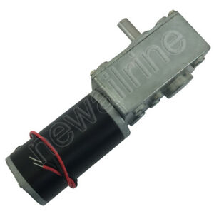 12v 24v A58sw31z High Torque Metal Gearbox Turbo Worm Speed Reduction Gear Motor