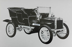 12 By 18 Black White Picture 1905 Ford Model B Touring