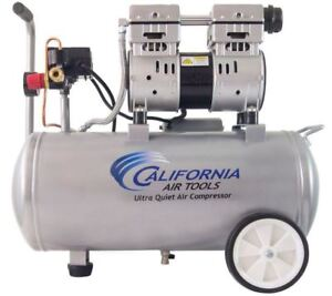 Portable Electric Quiet Oil free Air Compressor 8 Gal Tank 1hp Dual Piston Pump