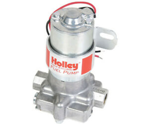 Holley 12 801 1 Fuel Pump Electric Rotor Vane Red Logo External Aluminium Polish