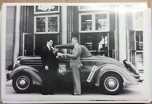 1936 Ford Roadster Great Lakes Expedition 12 X 18 Black White Picture