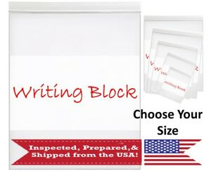 2x3 To 9x12 Zip Top Reclosable Storage Seal Packaging Bags White Writing Block