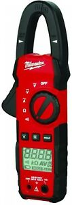 Digital Clamp Meter Pro Tester Electrical Current Voltage 400 Amp Ac Milwaukee