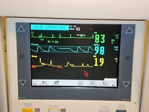 Phillips M3 Color Patient Monitor M3046a With Phillips Stand Spo2 And Ecg Cords