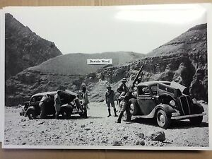 12 By 18 Black White Picture 1935 Ford 1936 Ford Truck Foreign Military Photo