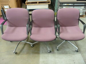 1 Pink Salmon Authentic Knoll Steelcase Charles Pollack Office Chairs