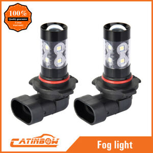 2x H10 9145 9140 9040 Hb3 100w 6000k Super White Led Hid Fog Lights Driving Bulb