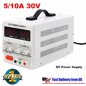 Universal 5 10a 30v Dc Power Supply Adjustable 2 Digital Variable Precision Eo