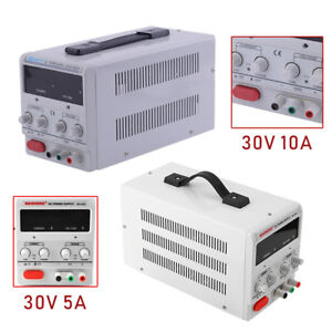30v 5a 10a Adjustable Dc Power Supply Dual Digital Variable For Lab Test Study
