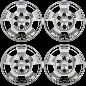 4 Silverado Tahoe Suburban 17 6 Lug Chrome Wheel Skins Hub Caps Full Rim Covers