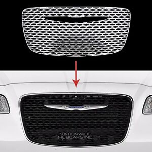 Fits Chrysler 300 2015 18 Chrome Snap On Grille Overlay Front Grill Cover Insert