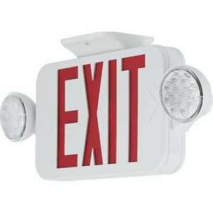 Progress Lighting Pecue ur 30 Exit Signs Red Led Exit Sign With Flood Lights