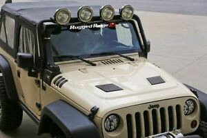 Rugged Ridge Performance Vented Hood 07 16 Jeep Wrangler Jk