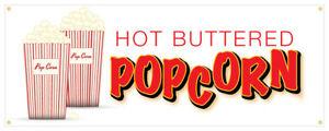 24 Popcorn Sticker Butter Salt Corn On Cob Hot Fresh Concession Stand Sign