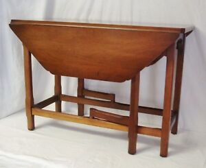 Statton Private Collection Cherry 32 Drop Leaf End Table 1964 Gate Leg Euc
