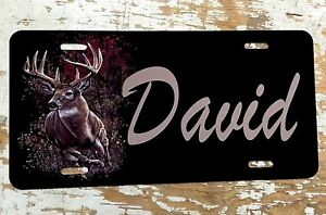 Personalized License Plate Car Tag Initials Custom Grandfather Deer New