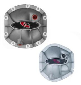 G2 Hammer Differential Cover Set For Dana 30 Front Dana 44 Rear Raw Aluminum
