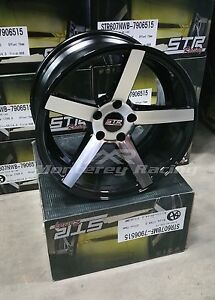 18x8 5 Str 607 Black Machine Face 5x108 Made For Ford Volvo
