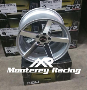 18x8 5 Str 607 Silver Machine Face 5x112 Mercedes Audi Volkswagon