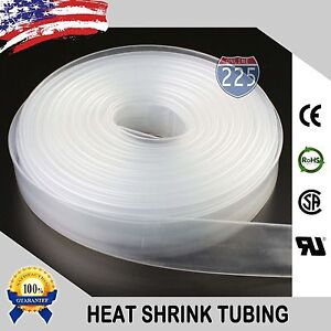 50 Ft 50 Feet Clear 1 4 6mm Polyolefin 2 1 Heat Shrink Tubing Tube Cable Us