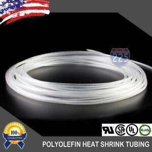 25 Ft 25 Feet Clear 1 8 3mm Polyolefin 2 1 Heat Shrink Tubing Tube Cable Us