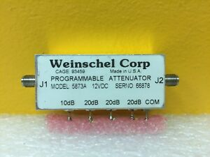Weinschel 5873a Dc To 4 0 Ghz 70 Db Sma f Programmable Attenuator Tested