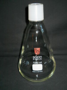 Schott Duran 45 40 Inner Joint 1000ml Erlenmeyer Flask For Filtering Apparatus