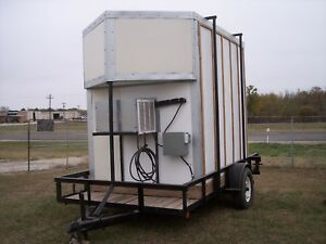 Hussmann 6x8x8 Portable Walk in Cooler R134 115v deer Lease Catering