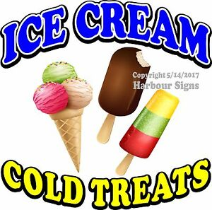 Ice Cream Decal choose Your Size Food Truck Sign Restaurant Concession Sticker