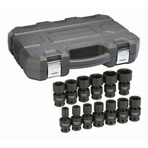 Gearwrench 84938n 3 Piece 1 2 Drive 6 Point Sae Universal Impact Socket Set