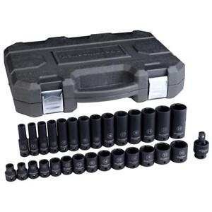 Gearwrench 84925n 29 Piece 3 8 Drive 6 Point Metric Impact Socket Set