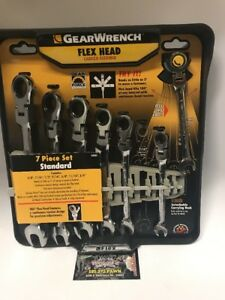 Gearwrench 7 Piece Standard sae Flex Head Ratcheting Wrench Set