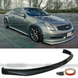 Fit 03 06 G35 2dr Coupe Illusion N1 Style Pu Front Bumper Lip Body Kit Add On
