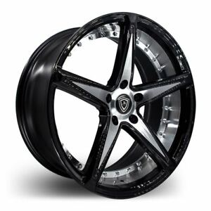 20x9 20x10 5 5x110 Marquee M3248 Black W Mach Made For Pontiac Chevy Saab Dodge